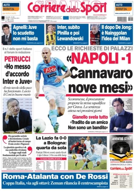 Corriere dello sport 111212