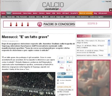 Itw Massucci 021212 - Gazzettait