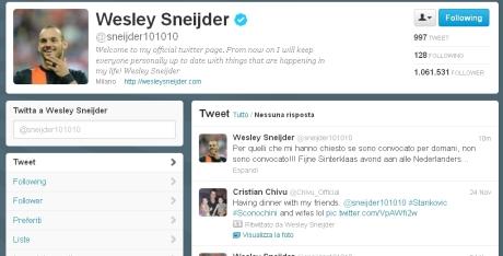 sneijder twitter