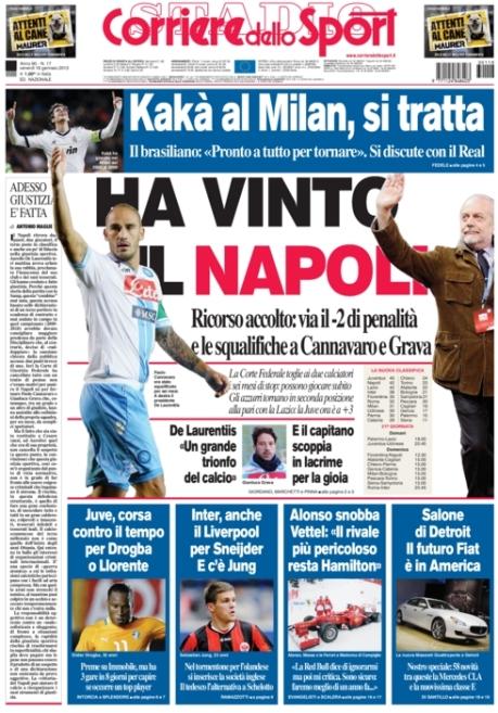 Corriere dello Sport 180113