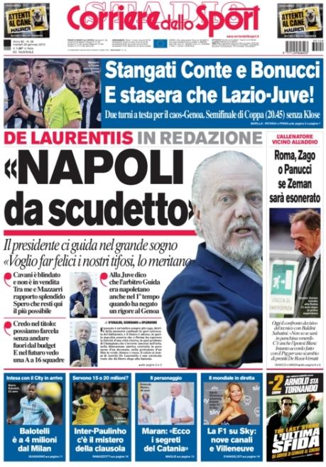 Corriere dello Sport 290113