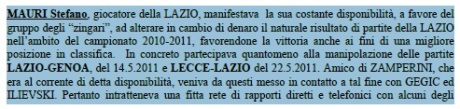Ordinanza Stefano Mauri