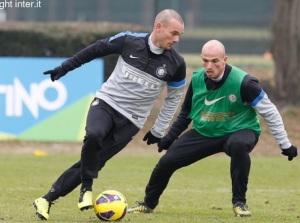 Sneijder allenamento 1
