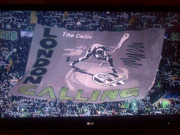 I tifosi del Celtic scrivono Rubentus...