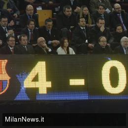Barcellona-Milan tabellone