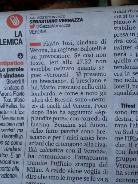 Baliotelli Gazzetta Verona
