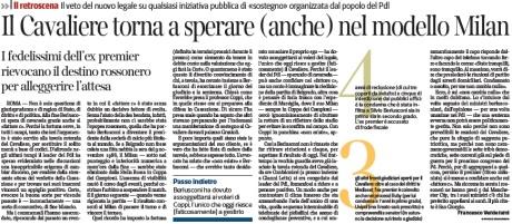 Berlusconi modello Milan 2