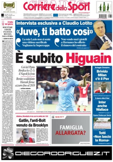 Corriere dello Sport 100813