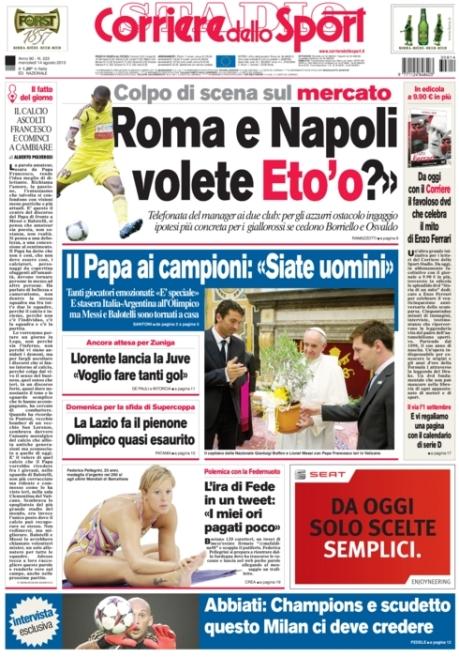 Corriere dello Sport 140813