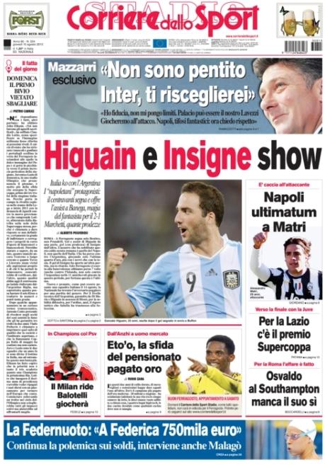 Corriere dello Sport 150813