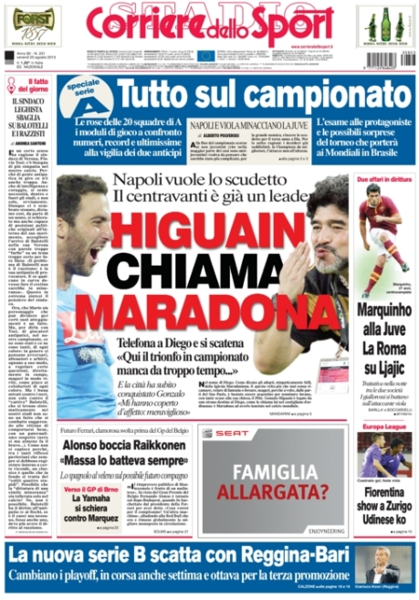 Corriere dello Sport 230813
