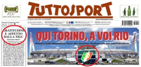 Abete Tuttosport Juventus