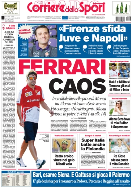 Corriere dello Sport 080913