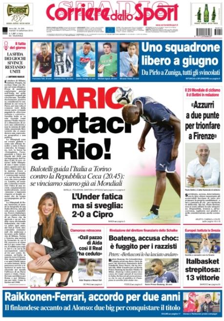 Corriere dello Sport 100913