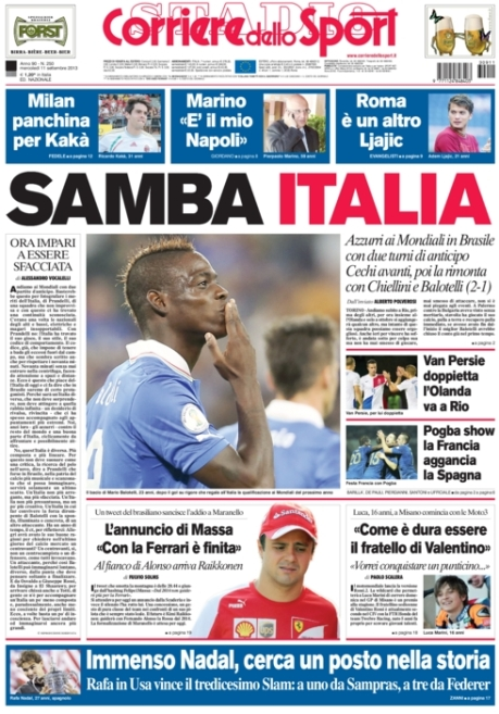 Corriere dello Sport 110913