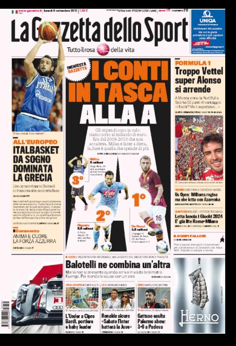 Gazzetta 090913
