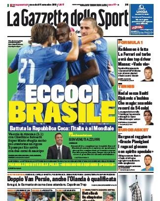 Gazzetta dello Sport 110913