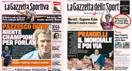 Gazzetta errori Champions