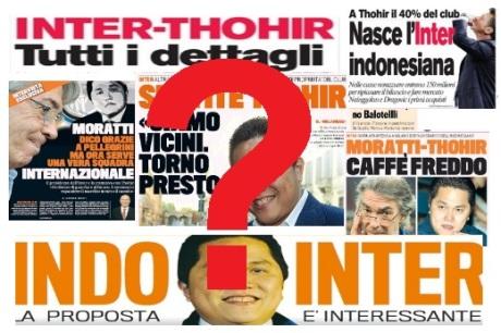 Prime pagine Thohir punto domanda
