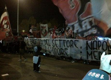 Striscione curva sud Milan