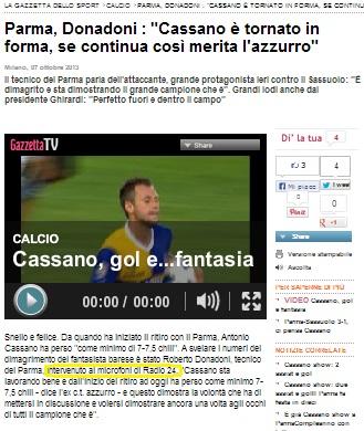 071013 Gazzettait su Cassano