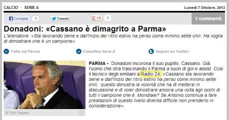 071013 Tuttosportit su Cassano