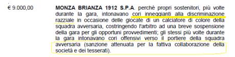 giudice sportivo Lega Pro