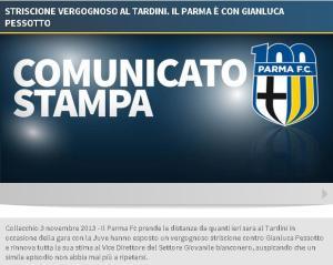 Comunicato Parma